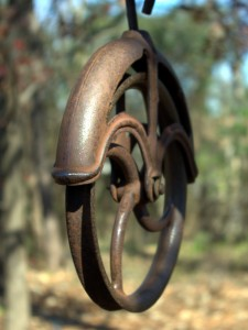 well pulley photo by andrew dunn